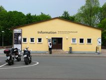 Centre d'information chez Buchenwald Photos stock
