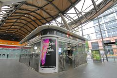 Centre d'information de hub de transport en commun Melbourne Australie photo stock