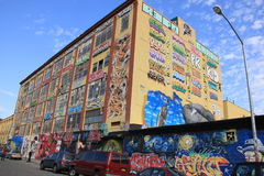 Centre de 5 arts de Pointz Aerosal, NY Images stock