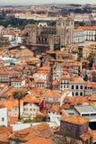 Centre de cathédrale et de ville de Porto Image stock