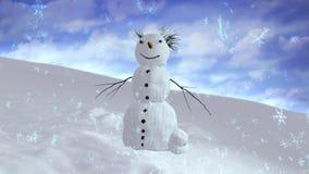 Centre de ciel de bonhomme de neige Photo libre de droits