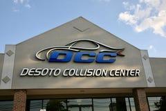 Centre de collision de Desoto Photos libres de droits