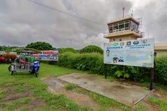 Centre de contrôle de sept 20,2017 à l'aéroport de Basco, Batanes Images libres de droits