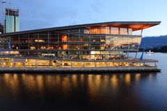 Centre de convention neuf, Vancouver Photographie stock libre de droits