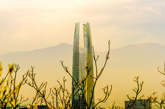 Centre de Costanera - Santiago - Chili Image stock