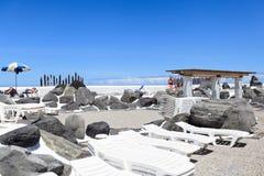 Centre de divertissement Lago Martianez avec des piscines avec de l'eau océanique, Photographie stock libre de droits