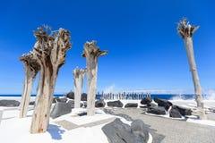 Centre de divertissement Lago Martianez avec des piscines avec de l'eau océanique, Photo libre de droits