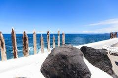 Centre de divertissement Lago Martianez avec des piscines avec de l'eau océanique, Photos stock