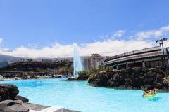 Centre de divertissement Lago Martianez avec des piscines avec de l'eau océanique, Photos libres de droits