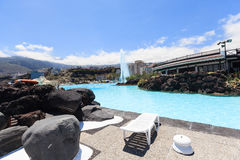 Centre de divertissement Lago Martianez avec des piscines avec de l'eau océanique, Image libre de droits