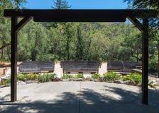 Centre de feu de camp, amphithéâtre extérieur, Big Sur photo stock