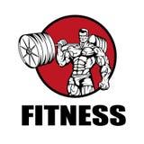 Centre de fitness Logo de gymnase illustration libre de droits