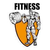 Centre de fitness Logo de gymnase illustration stock