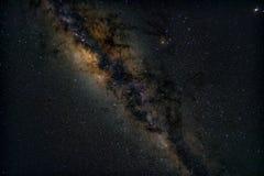 Centre de galaxie de manière laiteuse image stock