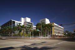 Centre de gouvernement de rue de Miami Beach de longue image d'exposition 17ème Images stock