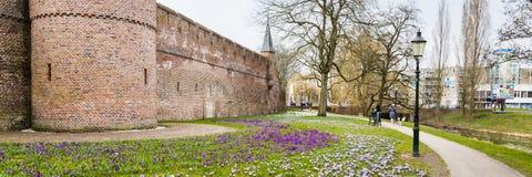 Centre de la ville antique d'Amersfoort Pays-Bas Image stock