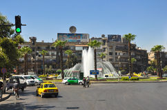 Centre de la ville avant la guerre Damas Image stock