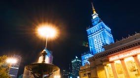 Centre de la ville avec le palais de la culture et de la Science Photographie stock libre de droits