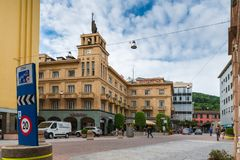 Centre de la ville de Chiasso, canton Tessin, Suisse Images stock