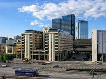 Centre de la ville d'Oslo en Norvège Photographie stock libre de droits