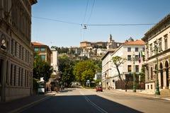 Centre de la ville de Bergame Images stock