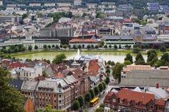 Centre de la ville de Bergen, Norvège Photo libre de droits