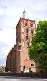 Centre de la ville de Chelmno avec la vieille cathédrale Image libre de droits