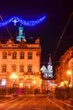 Centre de la ville de Lviv Images stock