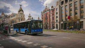 Centre de la ville de Madrid banque de vidéos