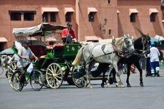 Centre de la ville de Marrakech photo stock