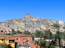 Centre de la ville de Montecompatri dans Castelli Romani Photographie stock libre de droits