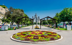 Centre de la ville de Targu Mures Photos libres de droits