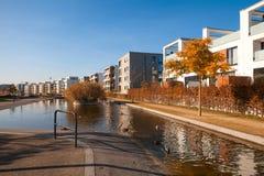 Centre de la ville de vert d'Essen Photos stock