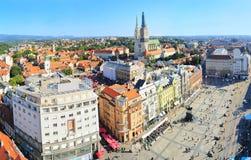 Centre de la ville de Zagreb Images libres de droits