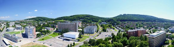Centre de la ville de Zlin Image libre de droits