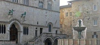 Centre de la ville de Pérouse médiéval images stock