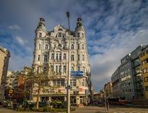 Centre de la ville prolongé Mariahilf à Vienne, Autriche, automne Photos stock