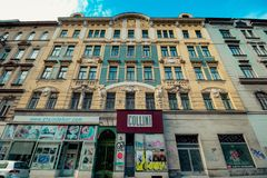 Centre de la ville prolongé Mariahilf à Vienne, Autriche, automne Image libre de droits