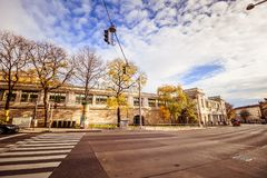 Centre de la ville prolongé Mariahilf à Vienne, Autriche, automne Photos libres de droits