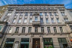 Centre de la ville prolongé Mariahilf à Vienne, Autriche, automne Images libres de droits