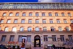 Centre de la ville prolongé Mariahilf à Vienne, Autriche, automne Image stock