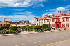 Centre de la ville de Puno photo stock