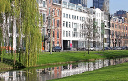 Centre de la ville Rotterdam, Pays-Bas Image stock