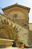 Centre de la ville toscan de Radda dans Chiantti Italie Images libres de droits