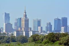 Centre de la ville de Varsovie photographie stock libre de droits