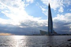 Centre de Lakhta à St Petersburg, Russie Image stock