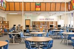Centre de medias de bibliothèque d'école Image libre de droits