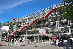 Centre de Pompidou. Paris, France - July 17, 2010:The cultural center and museum, Centre de Pompidou in Paris, France. The place is notable for its unusual Stock Image