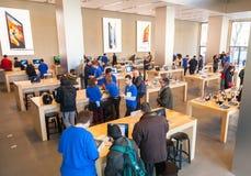 Centre de présentation d'Apple Inc à Barcelone, Espagne Image libre de droits
