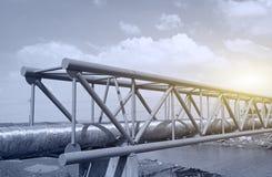 Centre de raffinerie en Sibérie occidentale images libres de droits